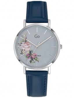 Montre Go Girl fleurie cuir bleu foncé 699259