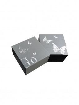 Boîte fantaisie, papillons, pour montre Go for Girl Only, fleurie, bracelet bleu foncé