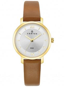 Montre Certus femme bracelet cuir camel 646249