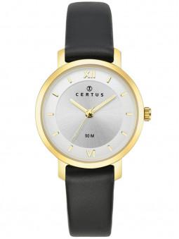 Montre Certus bracelet cuir noir 646248