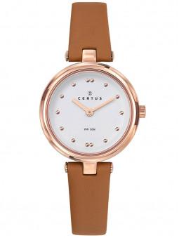 Montre Certus femme bracelet cuir cognac 646260