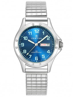 Montre Certus extensible acier cadran bleu 616477