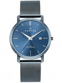 Montre Certus bleue bracelet milanais 616481