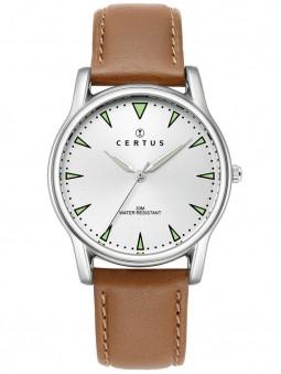 Montre Certus cuir brun 610641