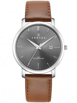 Montre Certus chic cuir brun 611043