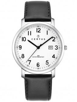 Montre Certus bracelet cuir noir 611078