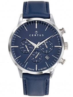 Montre Certus élégante bleue nuit 3 cadrans 611136