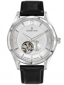Montre Certus coeur battant automatique cuir noir 611159