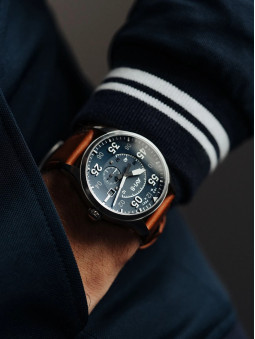 Montre au bras Avi-8 Oxford Blue Spitfire Automatique AV-4073-11