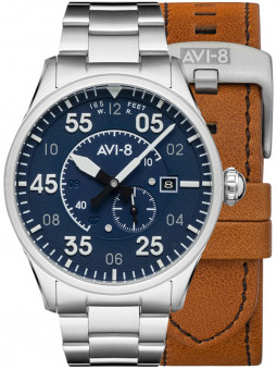 Montre Avi-8 Oxford Blue Spitfire Automatique AV-4073-11