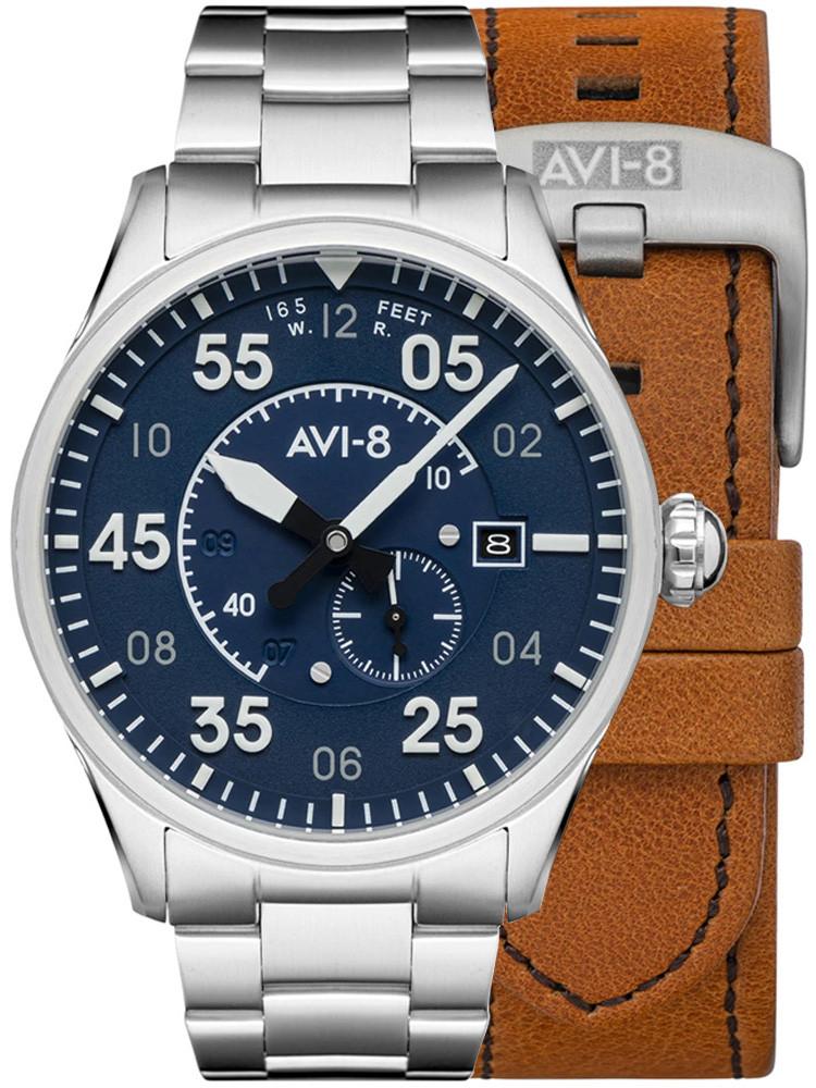 Montre Avi-8 Oxford Blue Spitfire Automatique AV-4073-11