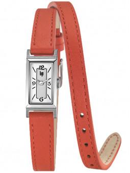 Montre LIP T13 double bracelet cuir orange 671209