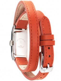 Dos de la montre LIP T13 double bracelet cuir orange 671209