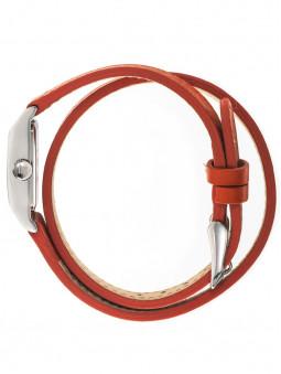Profil de la montre LIP T13 double bracelet cuir orange 671209