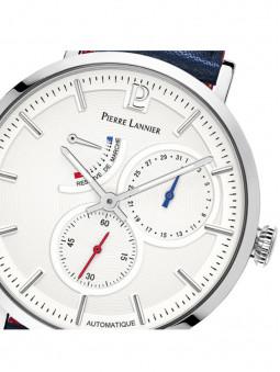 Zoom sur le cadran de la montre automatique 327B106, marque Pierre Lannier, pour homme