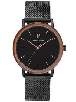 Montre en bois bracelet milanais noir 238F338