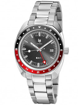 Montre made in France LIP GMT Marinier acier 671375
