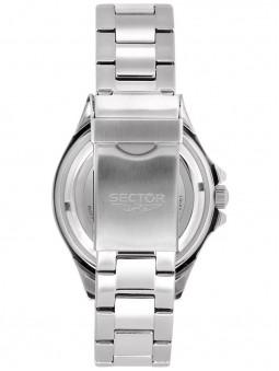 Arrière de la montre sport, bracelet, fermoir boucle deployante, marque Sector No Limits, référence R3253161018