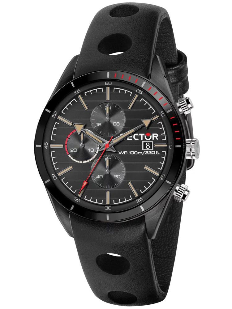 Montre homme, sport, marque Sector No Limits, collection 770, en acier, bracelet cuir noir, référence R3271616002