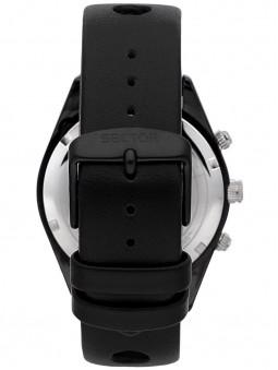 Bracelet en cuir noir, boucle simple ardillon, montre Sector No Limits homme, référence R3271616002