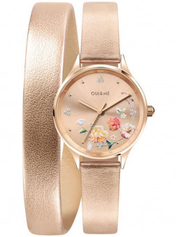 Montre Oui and Me double bracelet rose ME010243