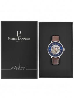 Packaging noir Pierre Lannier, boite ouverte pour placer et proteger la montre automatique homme 322B164