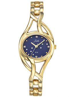 Montre femme Certus Joalia dorée avec cadran bleu empierré