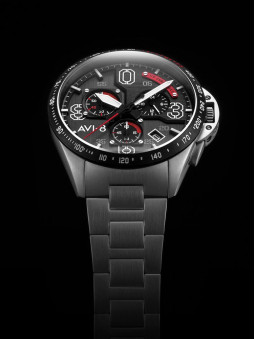 Presentation de la montre avi-8 homme aviateur Legion AV-4077-11, bracelet acier argent