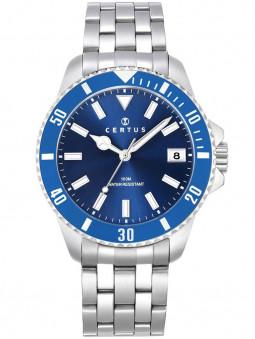 Montre Certus homme acier bleu 616472