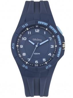 Montre sport Tekday silicone bleu 654682