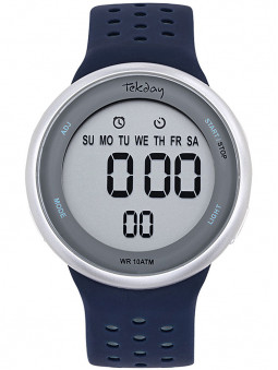 Montre Tekday digitale sport silicone bleu 655960