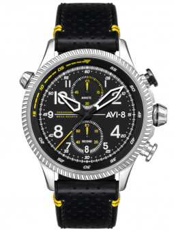 Montre Avi-8 aviateur Hawker Hunter cuir noir AV-4080-01