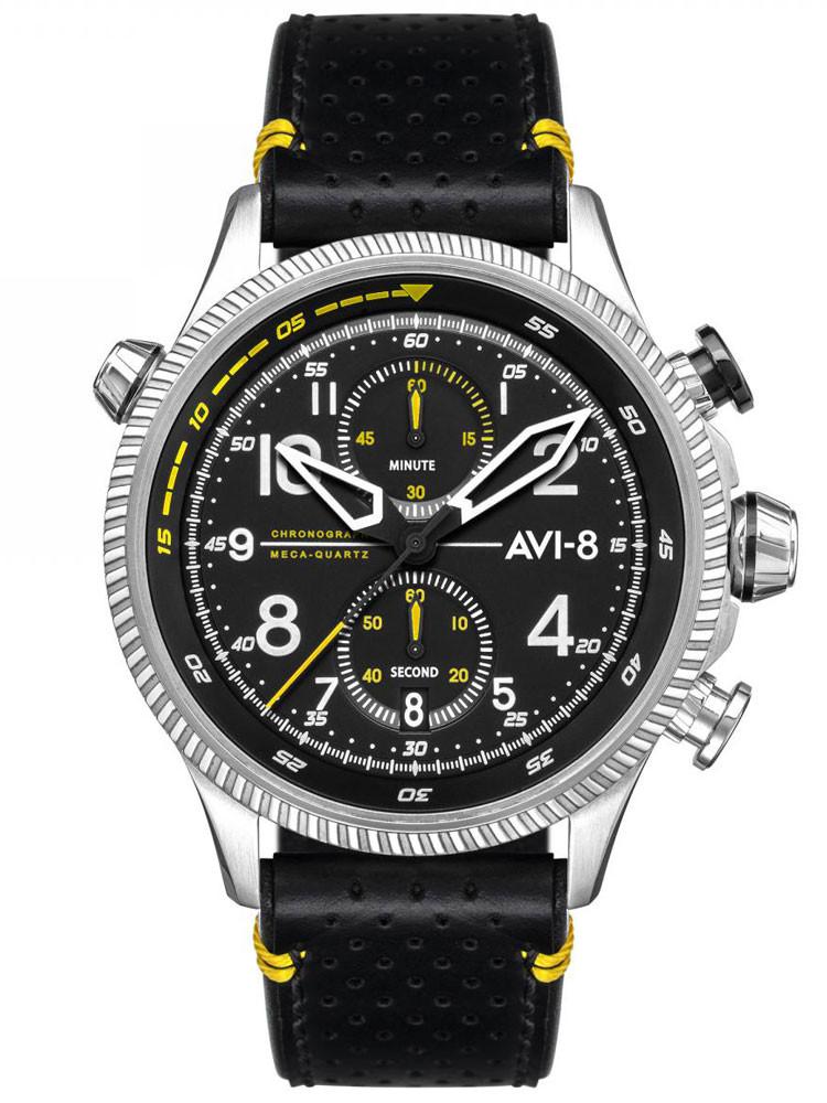 Montre Avi-8 aviateur Hawker Hunter cuir noir AV-4080-01