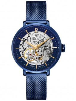 Montre automatique Pierre Lannier acier milanais bleu 309D968