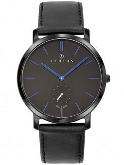 Montre Certus homme bracelet cuir noir 611062