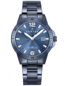 Montre Certus acier bleu 616483