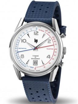 Nouvelle montre lip courage et devouement avec son bracelet en caoutchouc bleu