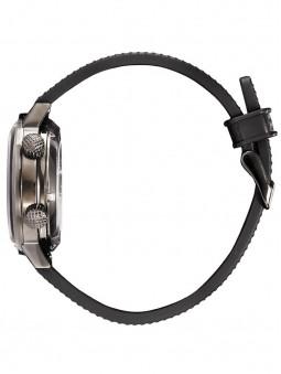 Joli bracelet noir en silicone de la montre Lip automatique Nautic ski noire reference 671522