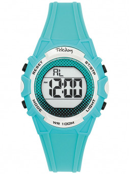 Montre Tekday digital sport bleu turquoise 654007