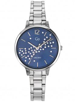 Montre femme argent Go Girl cadran bleu strass bracelet acier 695344