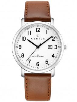 Montre homme vintage Certus cuir marron 611079