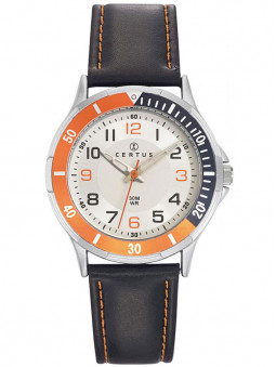 Montre Certus junior garcon bicolore noir orange 647524