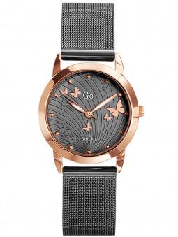 Montre originale Go Girl papillons dore rose bracelet milanais gris 695060