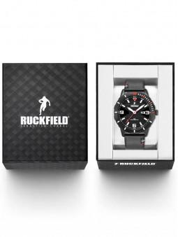 Boite ouverte, packaging ruckfield, pour proteger la montre homme noire 685116