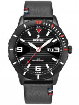 Montre sport Ruckfield bracelet en cuir noir 685116