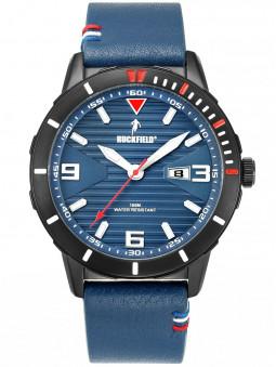 Montre sport Ruckfield bracelet cuir bleu 685115