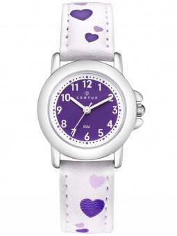 Montre Certus Fille Bracelet Blanc illustration Coeurs violets 647643