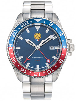 Montre Patrouille de France GMT Acier Bleue Athos7 A7-100EG-668079