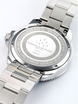 Boîtier de montre en acier inoxydable, montre Patrouille de France, illustration des avions de l'armee de l'air, 668079