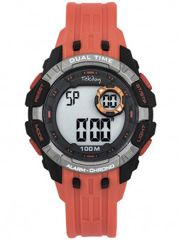Montre digitale sport enfant Tekday noire orange 653263